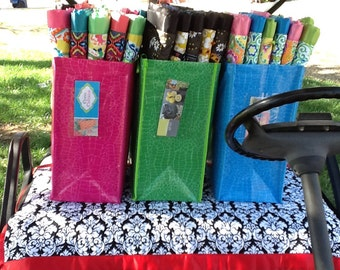 Golf Cart seat Quilt Black and White Damask