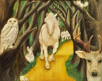 WALL ART - Forest of White Animals