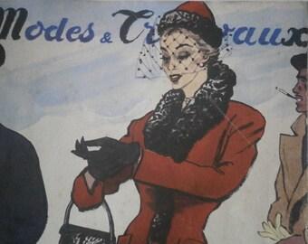 Vintage French 1953 Magazine Modes &Travaux