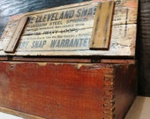 The Cleveland Snap Vintage Pine Wood Box