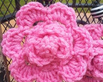 Rosey Posey Crocheted Earrings