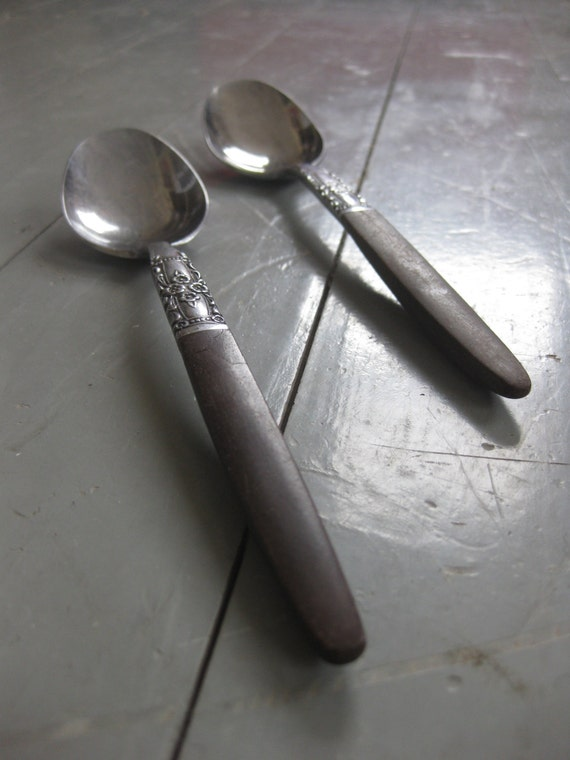 Two 2 Vintage Spoons Japan Northland Stainless by VintageChocolat