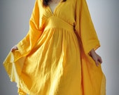 Kimono part II...yellow  cotton dress / jacket...S-L