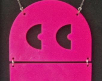 Giant Retro Arcade Ghost -Pink