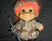 "4.5""  RUSS Military Troll Doll Toy"