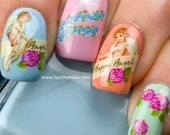 Nail Art Water Transfer Decal Cherubs & Angels Valentines Day Love Nails Y196