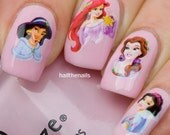 Nail WRAPS Nail Art Water Transfers Decals - Disney Princesses YD022