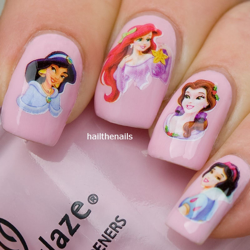 Disney Nail Art: Nail WRAPS Nail Art Water Transfers Decals Disney Princesses
