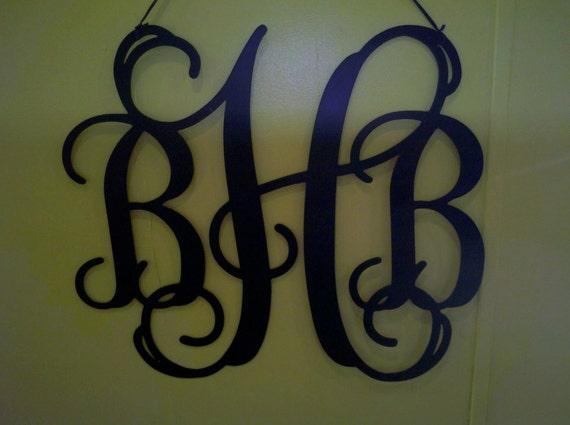 etsy your place to buy and sell all things handmade With metal monogram letters