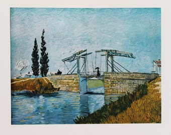 "on sale now: 1952 Vincent van Gogh ""The Drawbridge"" 1888 reproduction print"