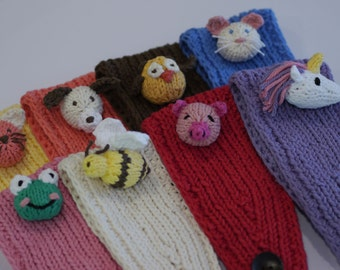 Knitted Children's Headband with Interchangeable Animals (AniBand with Tiny AniPal)