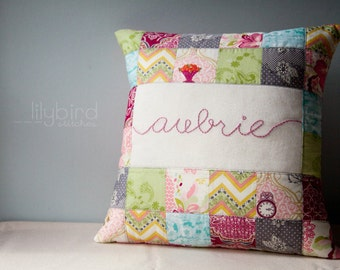 Personalized Pillow Cover - Made to Order for baby shower, hostess gift, housewarming, wedding, christening, birthday