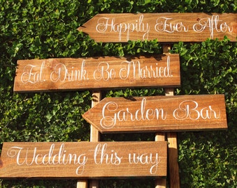 Personalized Wedding Signs - Custom Set of  4 mix and match WS-76