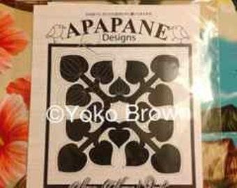 """Hawaiian quilt pattern """"Kawa"""" 20 inch x 20 inch"""
