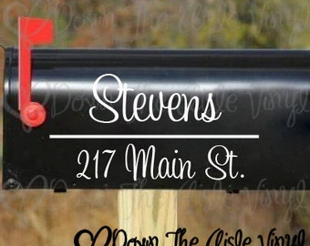 ONE Personalized Mailbox Decal