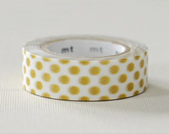MT GOLD Polka Dots Washi Tape