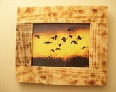 "Nature Lovers Great frame 8"" x 10"" to display your favorite picture made with repurposed wood."