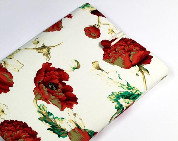 iPad Sleeve, iPad Case, iPad Cover Case, padded, red poppies