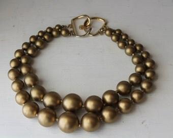 Lovely 1960's Chuncky 2 Strand Choker Necklace