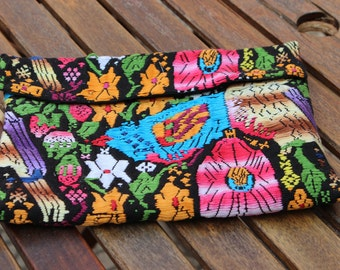 Colorful Hand Woven Clutch