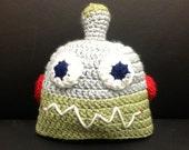 Child's crochet robot hat