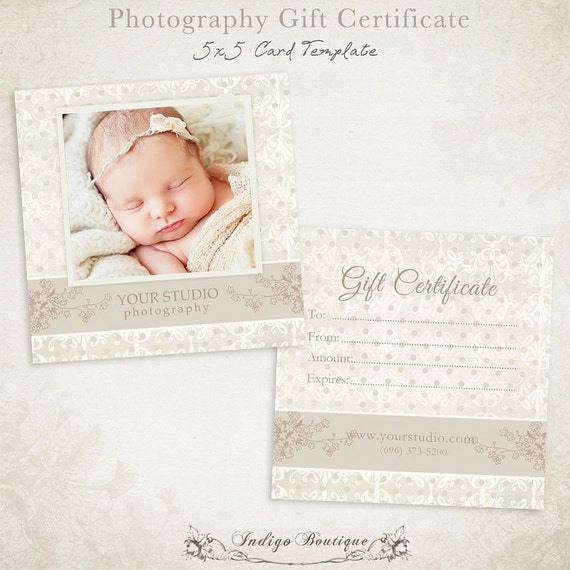 photography gift certificate template - photography gift certificate photoshop template by