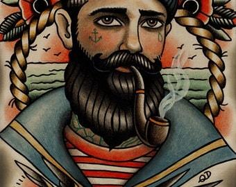 Seaman Tattoo Art Print
