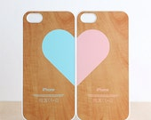 iPhone 5 / 5s Case - Love pairs for couples : Wood pattern (set of 2 cases per order) iPhone5 Case, iPhone5s Case, Cases for iPhone5s - evoncase
