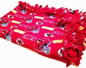 Kansas City Chiefs Throw - Fleece No Sew Blanket - Baby & Toddler to Adult Sized NFL Football Quilt - Shower Gift, U Design it - Any TEAM