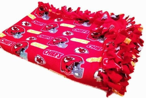 Kansas City Chiefs Throw Fleece No Sew By Blanketsunlimited