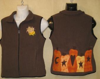 fall pumpkin vest