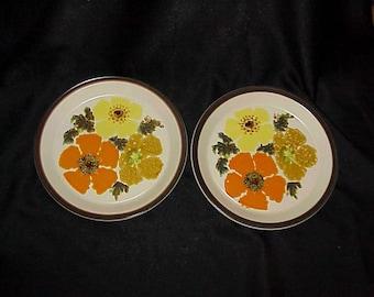 "2 Doverstone Bouquet 10 1/4"" Dinner Plates"