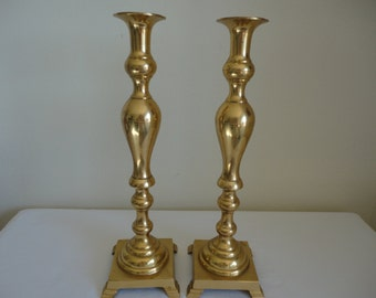 30% discount on items with a minimum price of 45.00. Use Coupon Code SALE30OFF at checkout - Vintage Pair of Brass Candle Holders