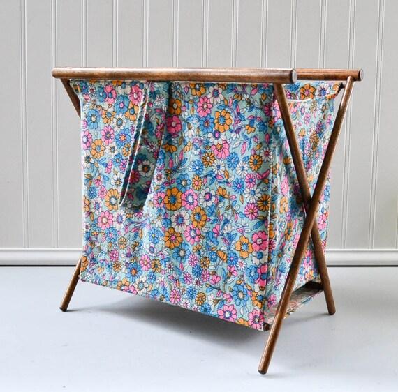 Vintage Knitting Bag : Vintage knitting sewing folding bag craft by