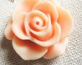 12 pcs Resin Rose cabochon 20mm-RC0049-39-peach pink