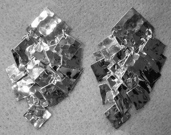 Silvertone Cascading Earrings