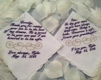 Two Personalized Handkerchiefs