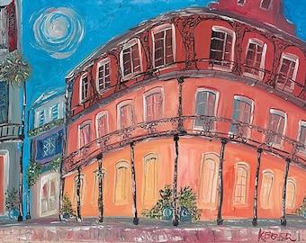 "PRINT ""Royal Hotel ""Moon""  French Quarter Print of the original."