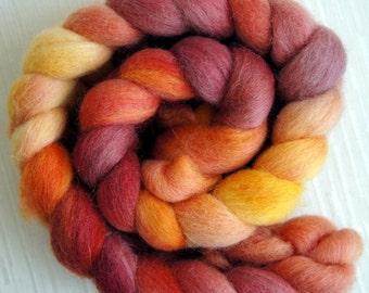 Corriedale Cross Wool Roving - Hand Painted Felting or Spinning Fiber