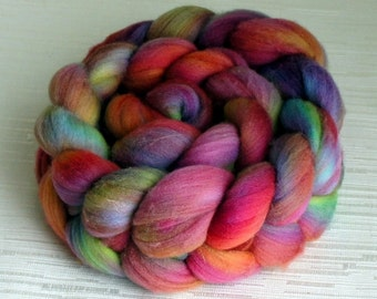SALE: Merino Wool Roving - Hand Painted Felting or Spinning Fiber