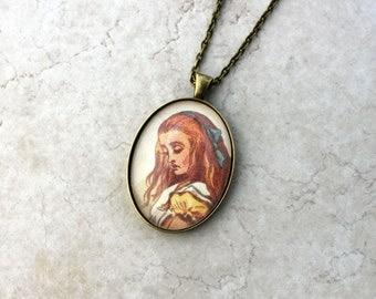 sweet alice color necklace - pendant jewelry - alice in wonderland