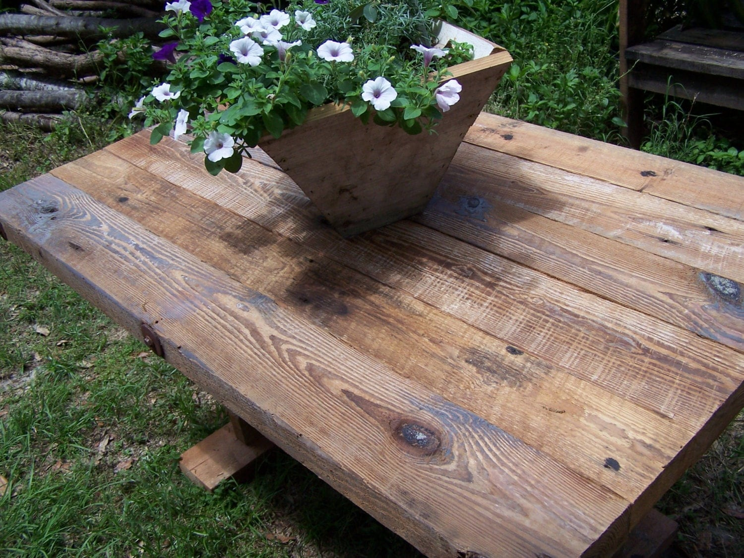 Rough Cut Lumber ~ Farm house table rough sawn lumber from reclaimed barn