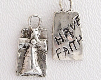 ONE Have Faith Pendant in Sterling Silver
