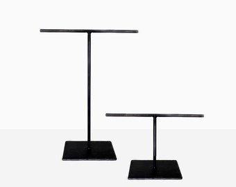 Standard Steel Necklace T-Stand & Small Steel Bracelet T-Stand - Set of Two - Jewelry Holder - Metal Necklace Display