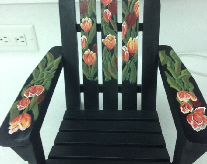 Solid Wood Tulip Garden Chair - Great for a Potted Plant or a Beautiful Addition to your Indoor Garden