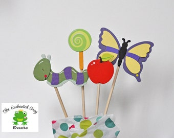 The Very Hungry Caterpillar Party Garden Party 4 Piece Centerpiece Embellishment Very Hungry Caterpillar Shower Diaper Cake
