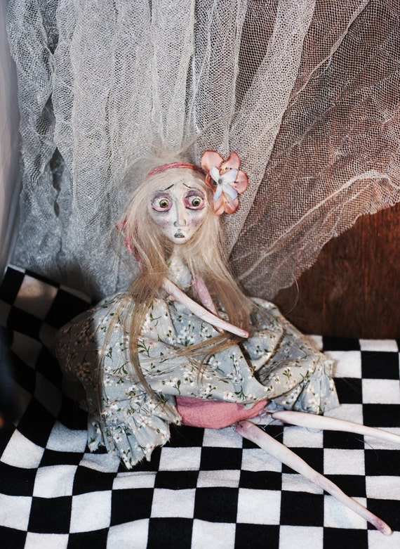 MOTHER'S Day & SPRING SALE. Art Doll Tabatha Halloween decoration