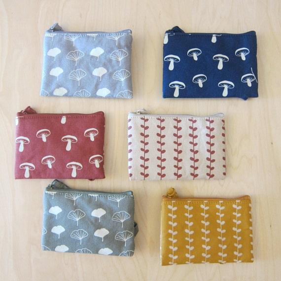 Natural Pattern Cotton/Hemp Coin bag/ Purse/ Card Wallet/ Small Pouch