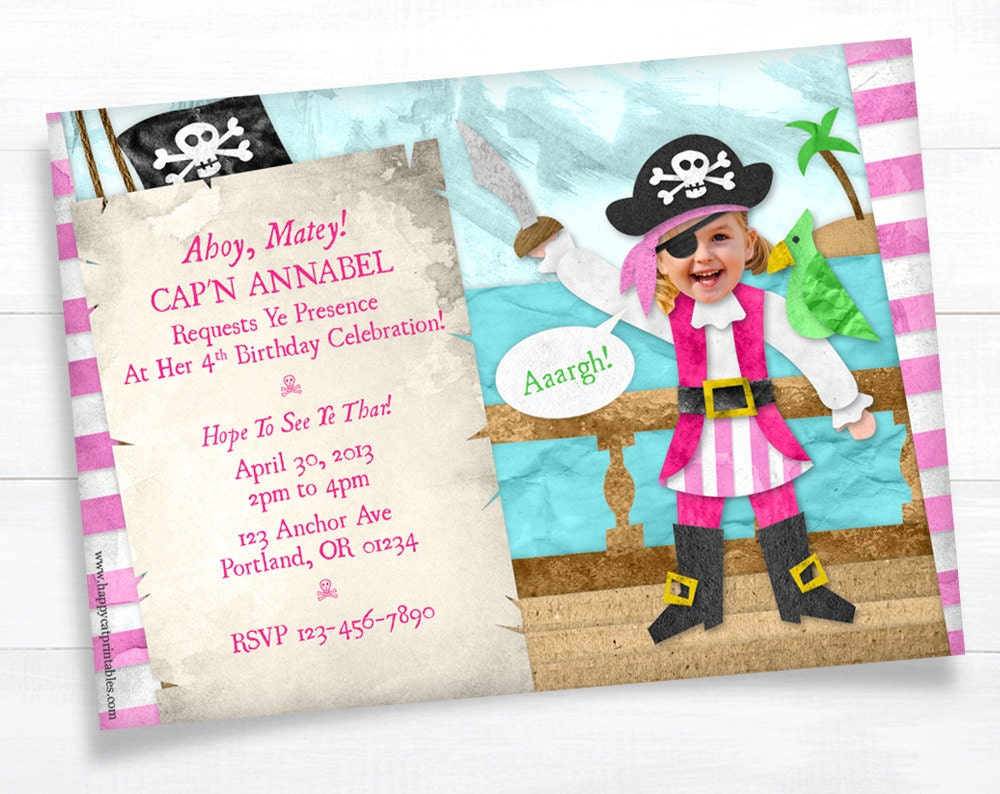 Printable Pirate Party Invitations was luxury invitation template