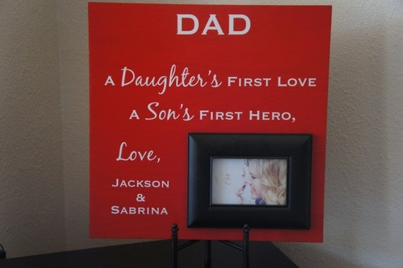 Wedding Day Gift Dad : Fathers Day / Wedding gift for Dad Personalized Custom Picture Frame ...